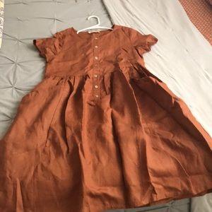 Rust baby doll dress